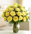 The 2 Dozen Long Stem Yellow Rose Bouquet