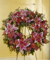 Pink Mixed wreath 7AMW