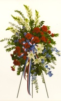 Red, White and Blue Standing Spray 23CSS