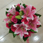 PINK LILLY AND ROSE BOUQUET