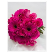 PINK ROSE AND GERBERA DAISY BOUQUET