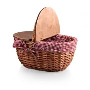 COUNTRY PICNIC BASKET- RED/WHITE GINGHAM