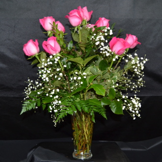 Romanesque Hot Pink Roses