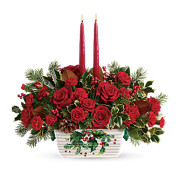 Teleflora's Holly Glow Centerpiece
