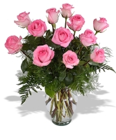 1 Doz Pink Roses