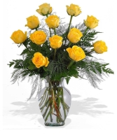 1 Doz Yellow Roses