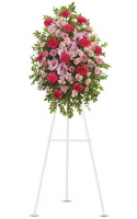 Teleflora's  Pink Tribute Standing Spray