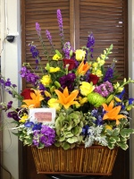 Custom Sympathy Basket