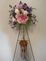 SYMPATHY CHIME TRIMMED WITH SILK ARRANGEMENT