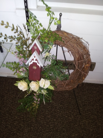 Wreath with Red Barn