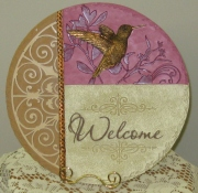 Hummingbird/Welcome Stepping stone