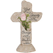 Heavenly Lights LED Pedestal Cross Serenity Prayer