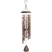 "Amazing Grace Bronze Silhouette 44"" Wind Chime"