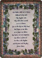 COMFORT THROW- LORD'S PRAYER GRAPEVINE