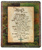 COMFORT THROW- LORD'S PRAYER WITH CROSS