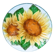 SUNFLOWER- PEBBLE GLASS BIRDBATH