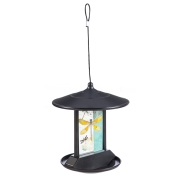 SOLAR  BIRD FEEDER- YELLOW DRAGONFY