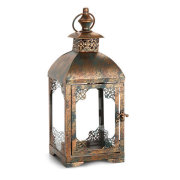 LANTERN- BRUSHED COPPER