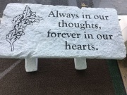 Always in our thoughts- LARGE BENCH