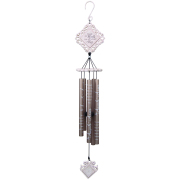 MEDIUM WIND CHIME VINTAGE WHITE- IN ANGELS ARMS