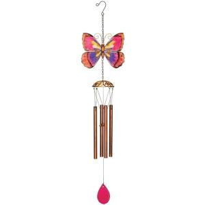 Purple Butterfly Windchime