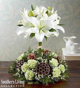 BLM White Lily Topiary by Southern Living
