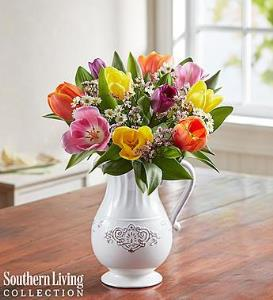 BLM Fresh Spring Tulip Pitcher By Southern Living