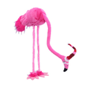 Standing Christmas Flamingo with bendable neck