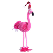 Standing Christmas Flamingo