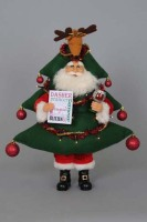 Lighted Gift Tree Santa