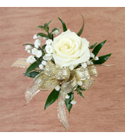 Single White Rose With Fillers & Bow