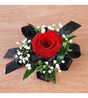 Single Red Rose With Fillers & Bow