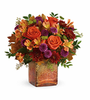 Flowers By Bauers Golden Amber Bouquet