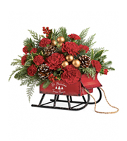 Flowers By Bauers Vintage Sleigh Bouquet