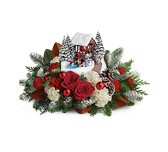 Flowers By Bauers Thomas Kinkade\'s Snowfall Dreams Bouquet
