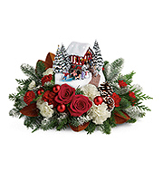 Flowers By Bauers Thomas Kinkade's Snowfall Dreams Bouquet