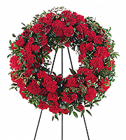Flowers By Bauers Red Regards Wreath