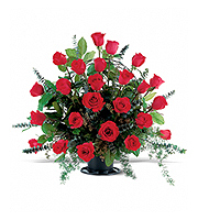 Flowers By Bauers Blooming Red Roses Basket