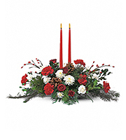 Flowers By Bauers Two Taper Centerpiece