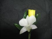 Dendrobium Orchid and Mini Rose Boutonniere