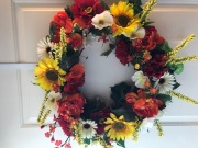Blooming Sunflower Wreath