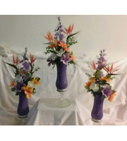 Purple Orange Centerpiece