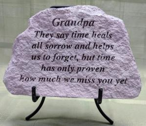 Grandpa Concrete Plaque