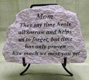Mom Concrete Plaque