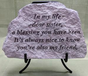 In my life dear sister