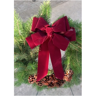 Cemetery Evergreen Wreath