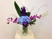 MODERN HYDRANGEA AND ORCHID FLORAL