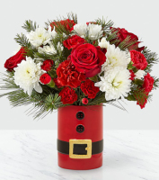 SAME DAY DELIVERY of Fresh Christmas Flowers in a vase, Sunnyslope Floral, The Grand Rapids Holiday Florist