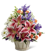 Mothers Day flowers in a basket for delivery in Grand Rapids, in Holland & in Grandville, Sunnyslope Floral Flower Shop