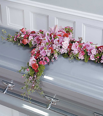 Find cross casket flowers and other sympathy gifts from the family for same day delivery to funeral homes locally and world wide with Sunnyslope Floral